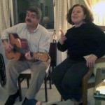 Marion and her husband on the guitar