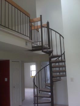 spiral stairs to the loft