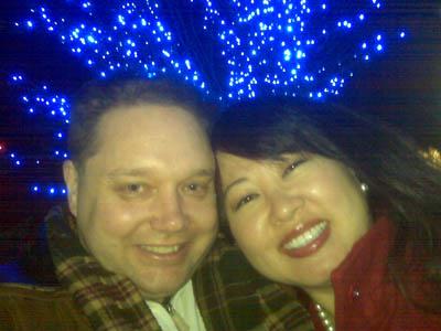 Christmas lights at Mormon Tabernacle