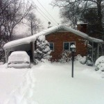 A home in Alexandria VA after a heavy snowfall