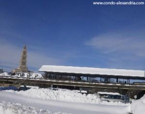 King Street Metro in snow