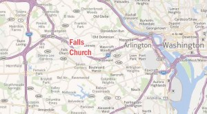 map of Falls Church