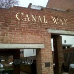 Entrance to the Canal Way condos in Old Town