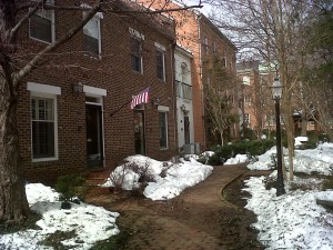 Canal Way townhouse in Old Town Alexandria.
