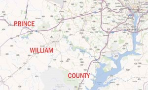 map of Prince WIlliam County