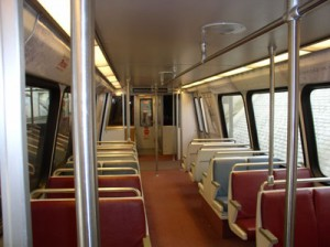 Interior of Metro car