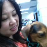 Julie and dog