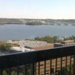 View of Potomac River from Alexandria House balcony