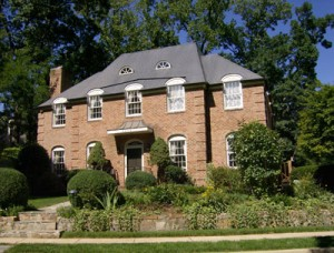 Federal Style brick home
