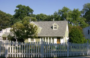 cottage and fence