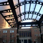 See-through canopy at Carlyle District entry