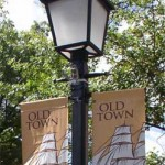 banner & streetlight