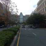 View of the U.S. Patent Office from Carlyle District street