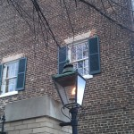 Gas street lamp in Old Town.