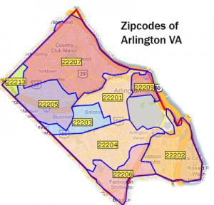 zip codes of Arlington