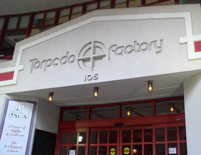 Entrance to Torpedo Factory Art Center