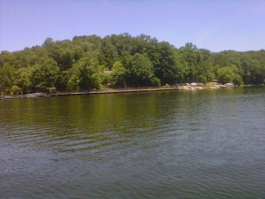 water at Fountainhead