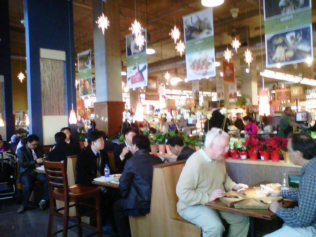 Lunch is enjoyed at Whole Foods in the Carlyle District with many USPTO employees patronizing the store
