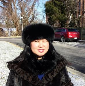 Julie Nesbitt in a fur