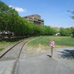 The path intersection with the tracks