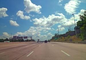 Driving through 495
