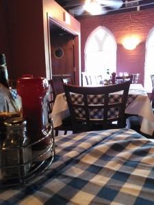 Inside the restaurant on the 2nd floor