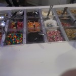 A wide variety of candy's and toppings