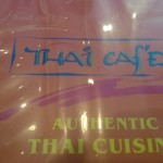 Here is the menu at Thai  Cafe