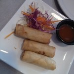 Crispy spring rolls