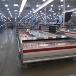 Inside of the Costco there are countless items
