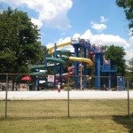 The slides at Cameron Run are very tall