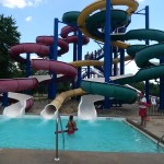 The slides are fast and fun at Cameron Run Park