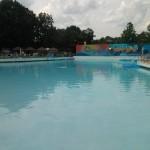 The wave pool is empty for break