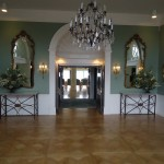 The lobby is elegantly furnished