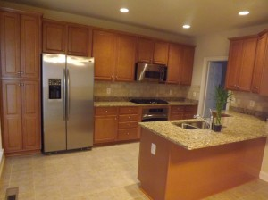 This is new kitchen in at Potomac Branch.