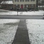 snow in the lawn