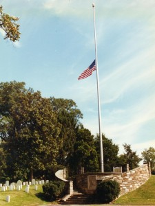 flag at Alexandria National Cemetery