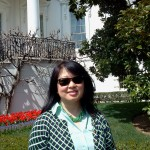 Julie on the lawn of the White House