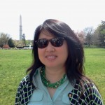 on the lawn of the White House looking toward Washington Monument