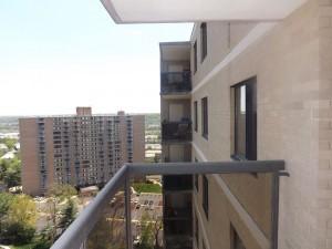 A balcony at Watergate at Landmark