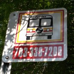 A Fairfax Connector sign
