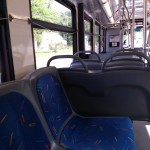 Another angle showing the inside of a Fairfax Connector bus
