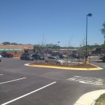 Here is the parking lot at Kings Crossing
