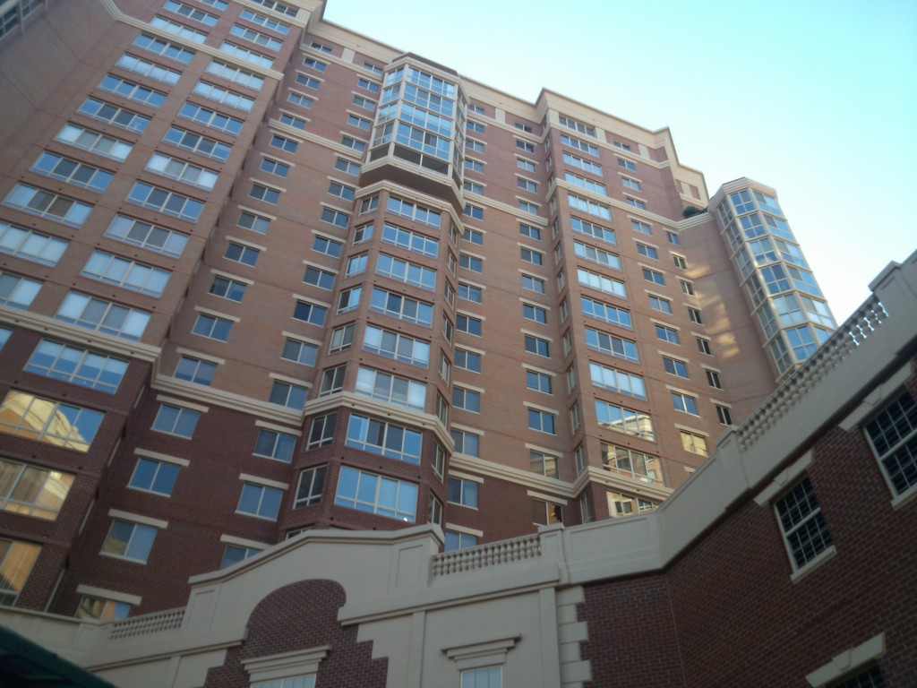 Another angle showing the outside of Carlyle Towers