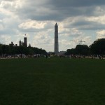 The Washington Monument view from the National Mall