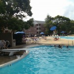 The diving board at the Belle View pool