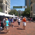 A wine festival at the Reston Town Center