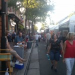 An Art Festival that took place on King St. in Old Town Alexandria