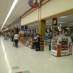 At the Commissary on Fort Belvoir near the check out