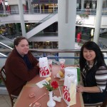 Will and Julie Nesbitt enjoy a meal at Landmark Mall